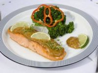Salmon Filet and Sweet and Sour Lime Glaze